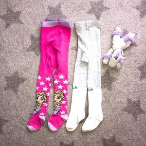 🌸Lot of 2 Toddler Tights🌸1-2T